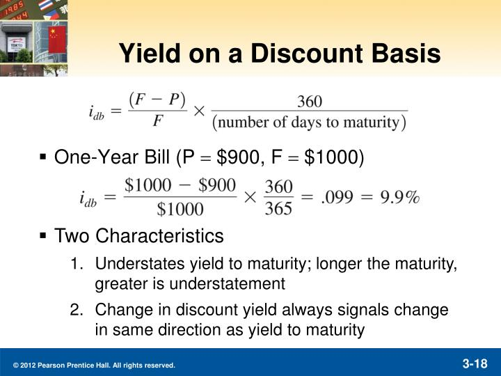 Yield on a Discount Basis
