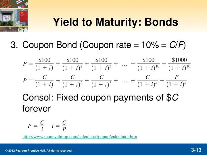 Yield to Maturity: Bonds