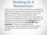 working in a bureaucracy