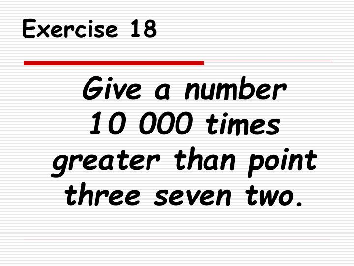 Exercise 18
