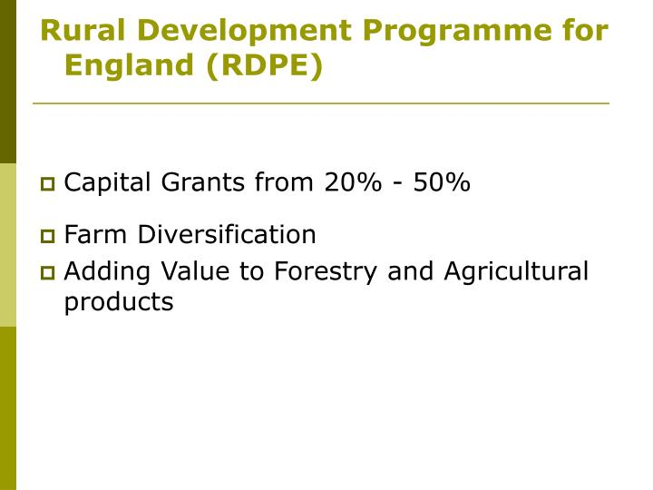 Rural Development Programme for England (RDPE)