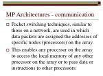 mp architectures communication1