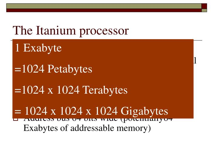 The Itanium processor