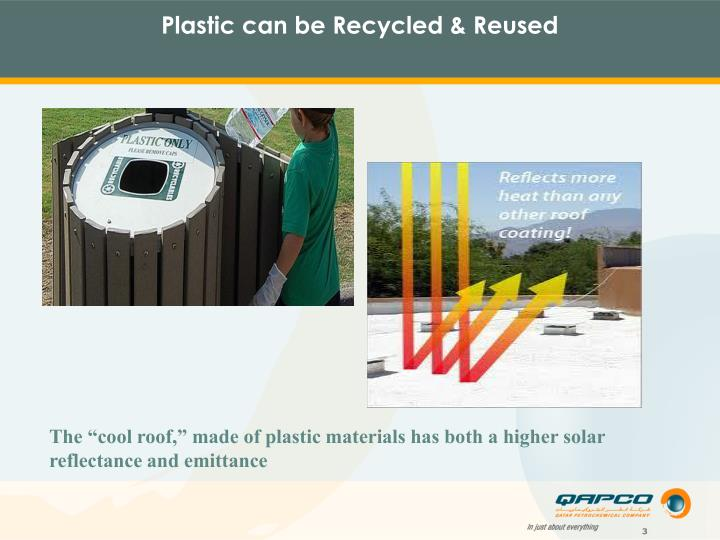 Plastic can be Recycled & Reused