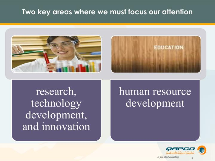 Two key areas where we must focus our attention