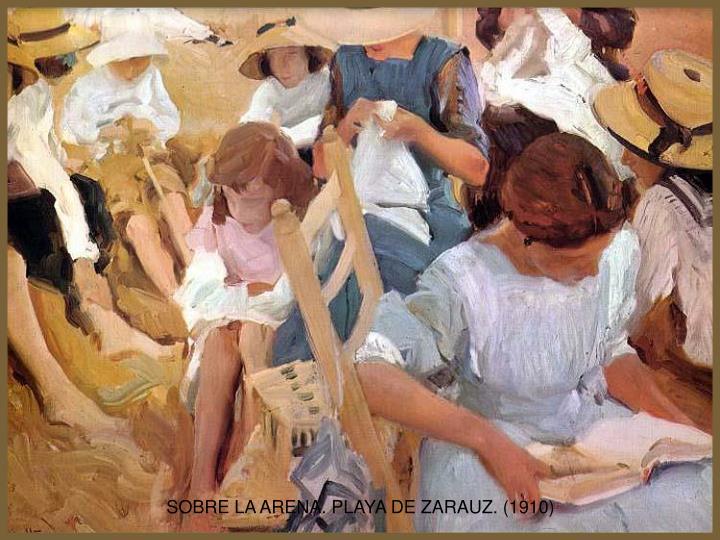 SOBRE LA ARENA. PLAYA DE ZARAUZ. (1910)