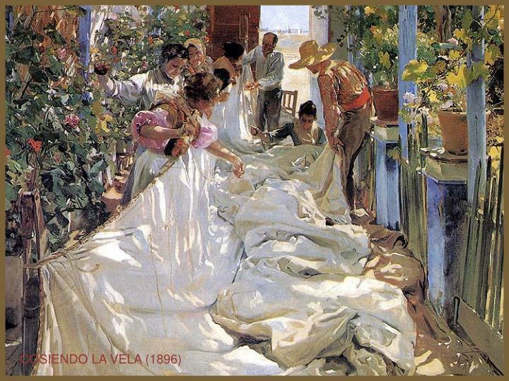 COSIENDO LA VELA (1896)