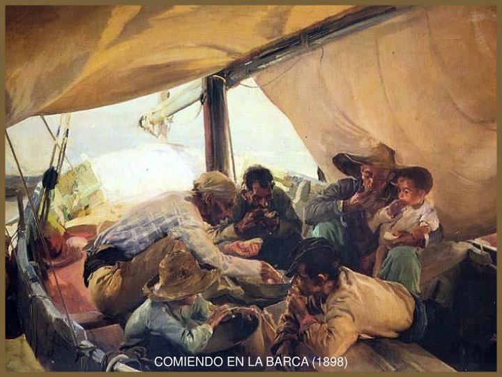 COMIENDO EN LA BARCA (1898)