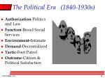 the political era 1840 1930s