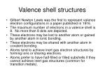 valence shell structures
