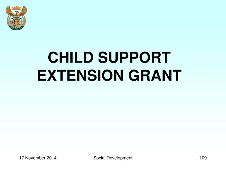 CHILD SUPPORT EXTENSION GRANT