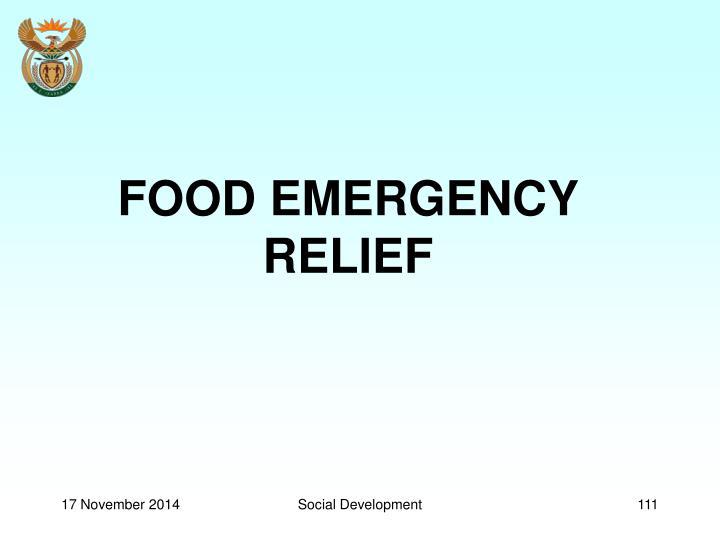 FOOD EMERGENCY RELIEF