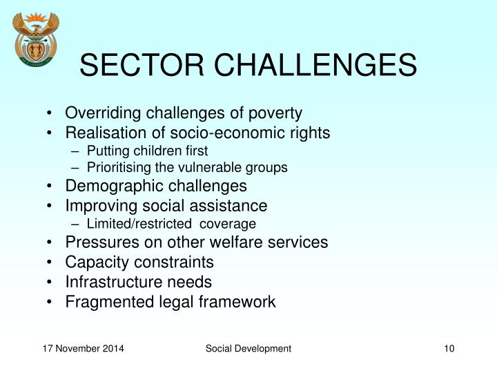 SECTOR CHALLENGES