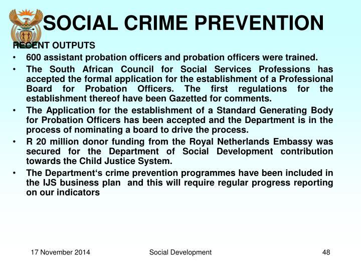 SOCIAL CRIME PREVENTION