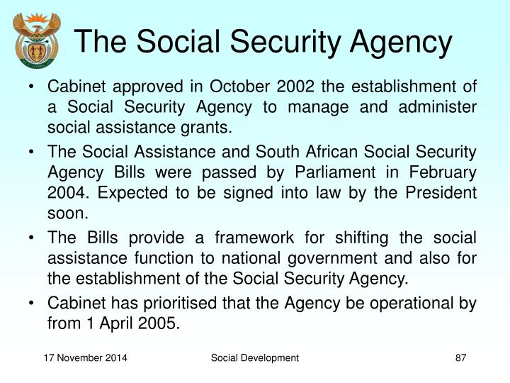 The Social Security Agency