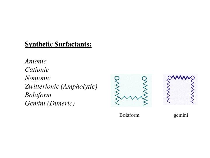 Synthetic Surfactants: