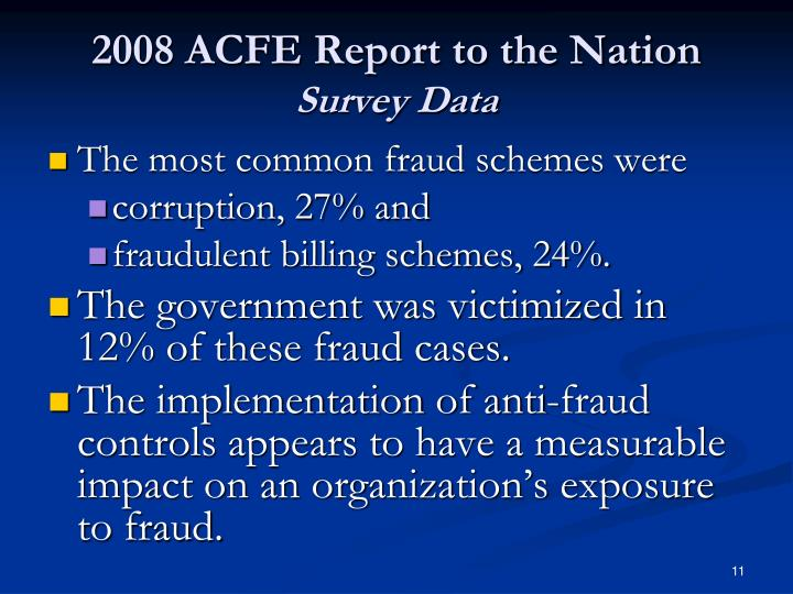 2008 ACFE Report to the Nation