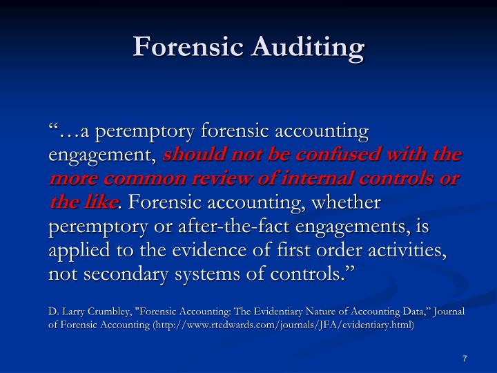 Forensic Auditing