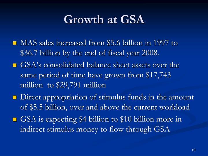 Growth at GSA