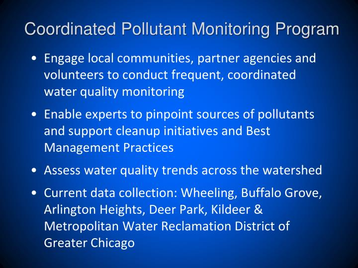 Coordinated Pollutant Monitoring Program