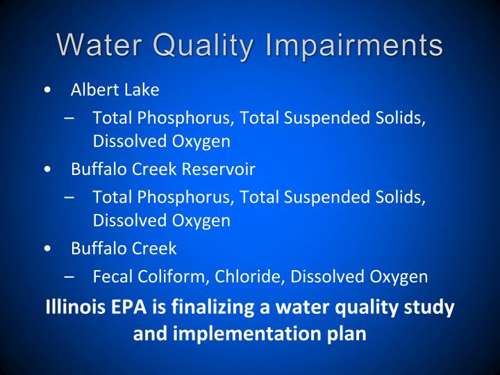 Water Quality Impairments