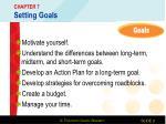 chapter 7 setting goals