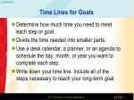 time lines for goals