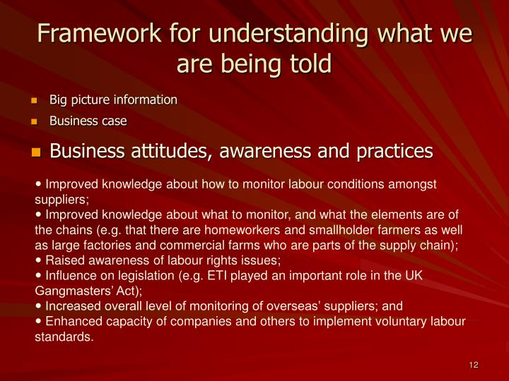 Framework for understanding what we are being told