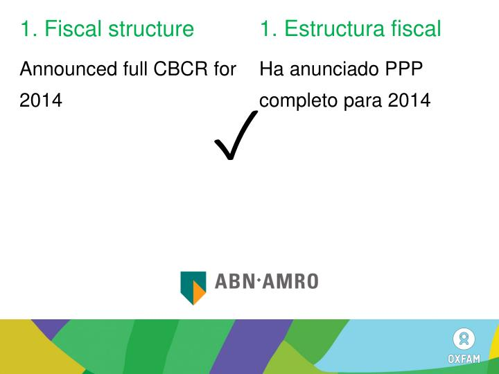 1. Fiscal structure