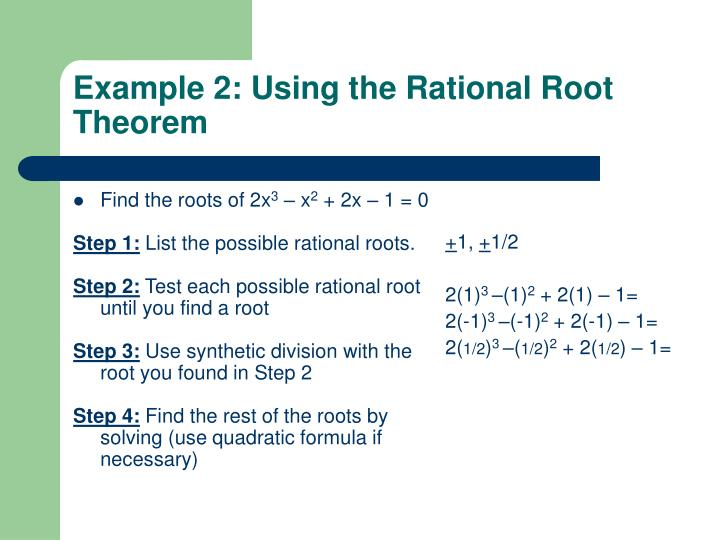 Find the roots of 2x