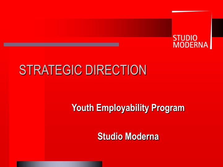 youth employability program studio moderna