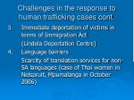 challenges in the response to human trafficking cases cont