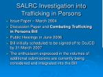 salrc investigation into trafficking in persons