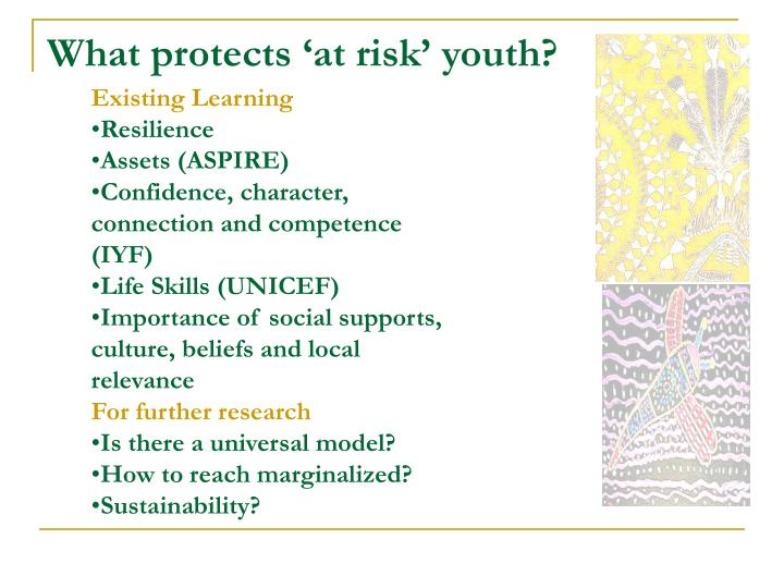 What protects 'at risk' youth?