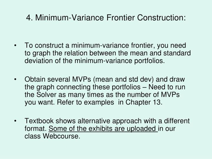 4. Minimum-Variance Frontier Construction: