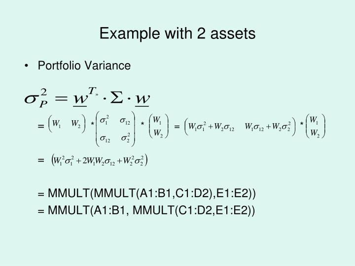 Example with 2 assets