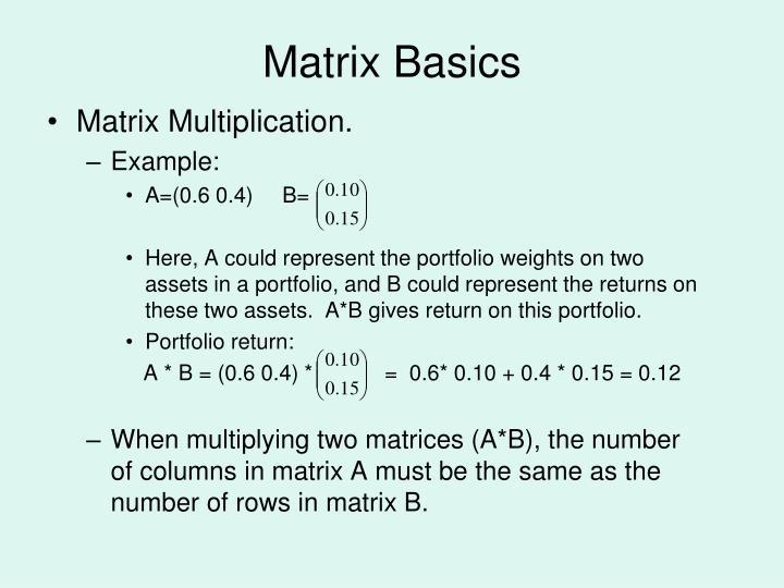 Matrix Basics