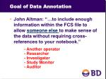 goal of data annotation