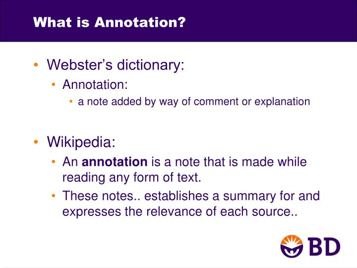 What is Annotation?