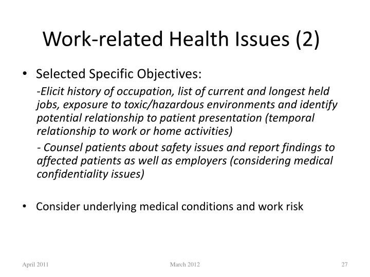 Work-related Health Issues (2)