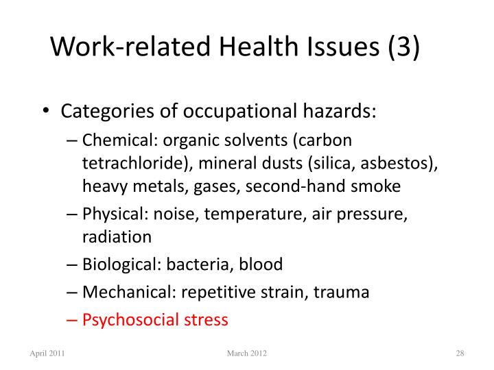 Work-related Health Issues (3)