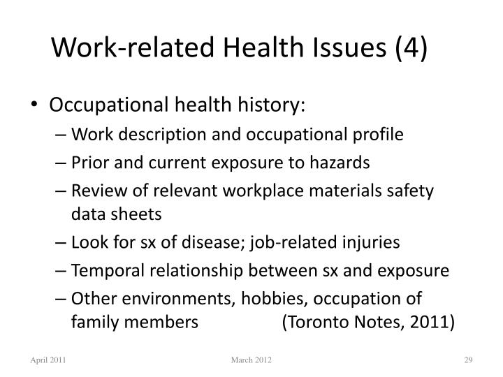 Work-related Health Issues (4)