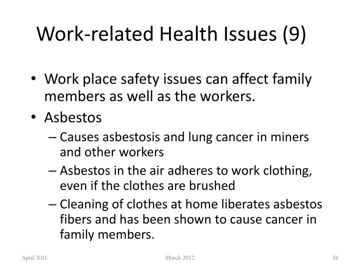 Work-related Health Issues (9)