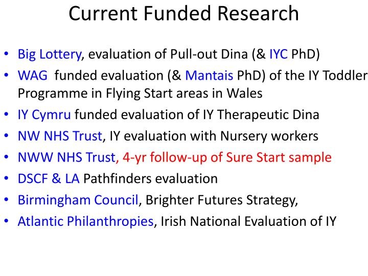 Current Funded Research