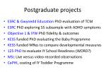 postgraduate projects