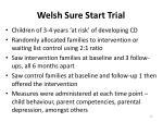 welsh sure start trial