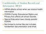 confidentiality of student records and information bp jo