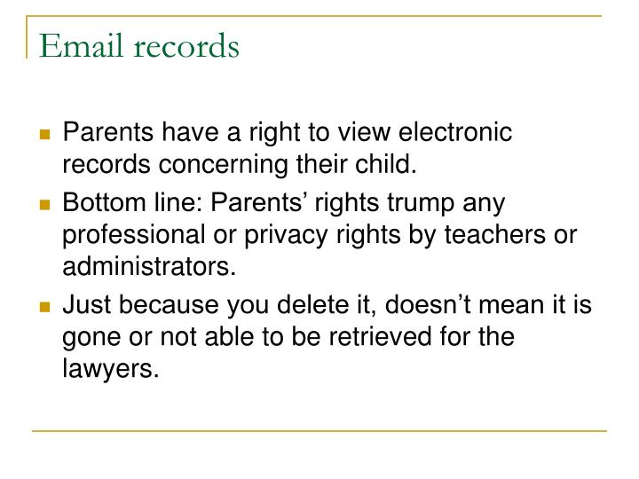 Email records