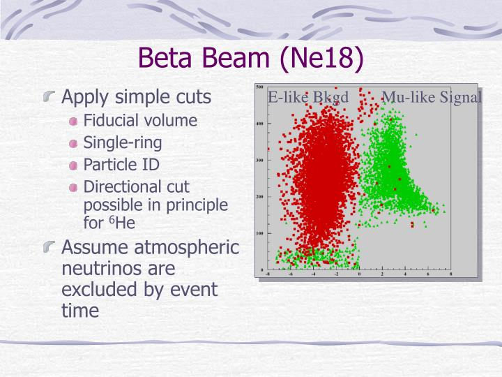 Beta Beam (Ne18)