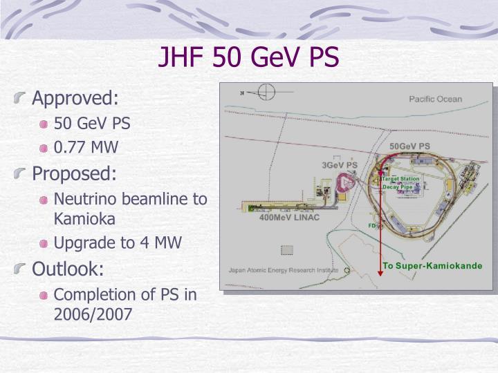 JHF 50 GeV PS